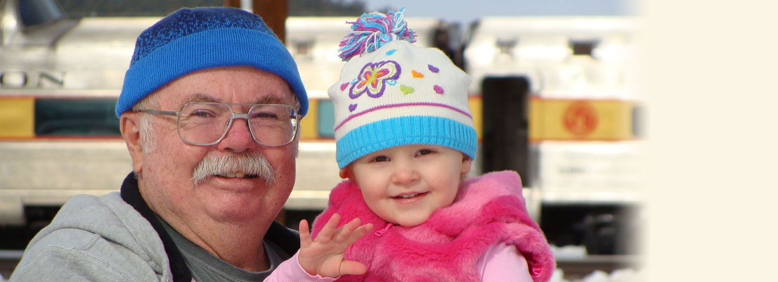 Grandfather with baby granddaughter