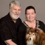 Volunteers Steve and Jane with their dog Rusty
